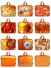 "Orange Laptop Computer Sleeve Case Bag w. Hidden Handle Fit up to 15.6"""