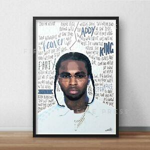 Pop Smoke Poster / Print / Wall Art A3 / Rapper / Meet The Woo / Shake The Room