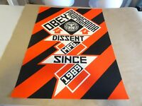 2010 Obey Giant Shepard Fairey CONSTRUCTIVIST BANNER BLACK PRINT PASTER POSTER