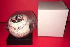 CAL RIPKEN JR & LOU GEHRIG IRONMEN  PHOTO COMMEMORATIVE BASEBALL WITH STAND NEW