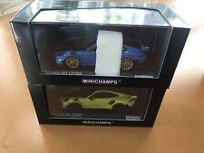 2x Porsche 911(991.2) GT2RS Weissach Paket 413067223 u. 413067225 1/43 OVP
