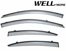 WellVisors Side Window Visors W/ Black Trim For 06-11 Hyundai Accent Sedan 4Dr