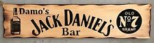 Personalised Jack Daniel's Old No. 7 Bar Rustic Pine Timber Sign 600mm x 140mm