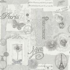 Carta da parati grigio argento in vendita ebay for Carta parati argento