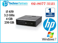 HP Compaq Elite 8100 SFF PC Desktop Intel i5-650 3.2G 4G 250G Win7 1Yr Warranty