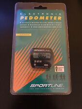 Brand New Sportline Electronic Pedometer 340 Measures Hiking Walking Jogging
