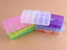 10 Slot Jewelry Beads Plastic Storage Box Craft Organizer Case 1pc 7colours
