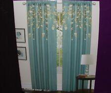 "1 New Lush Decor Flower Drops Blue Curtain Panel 42"" x 84"" Cascading Petals One"
