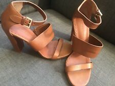 Mulberry Shoes sandals sz 6 tan leather heels rrp £525