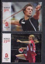 2008 NORWAY Beijing Olympics, 2 stamps, handball   NK 1697-98  MNH