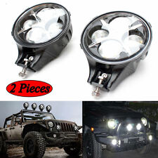 Pair 60W CREE LED Work Light Round White Fog Light for Jeep Wrangler Offroad 4X4