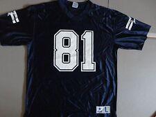 Blue Dallas Cowboys #81 Terrell Owens NFL Football Screen Jersey Men L EXCELLENT
