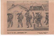 """Le 7 à la """"tomate7"""" - Cours de répétition Sentier 1922"""
