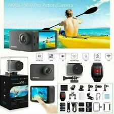 AKASO V50 Pro Action Sport Camera WiFi 20MP 2Inch Eis Touch Screen   Refurbished