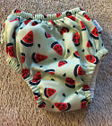 iPlay Size 12 Months 18-22 lbs Swim Diaper UPF 50+ watermelon, Ruffles