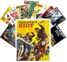 Postcards Pack [24 cards] Biker Racing Car Crash Vintage Movie Poster CC1061