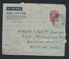 04192) GB / UK GA Aerogramme LF1 I, Kent 30.7.43 > Br.North African Force
