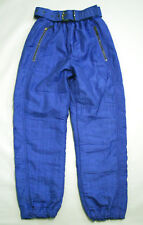 Vintage Ellesse Blue Ski Pants Size 8 Nylon Made in Italy