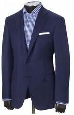 Hickey Freeman  Traveler Blue Blazer Jacket Size 38 Regular Madden $995