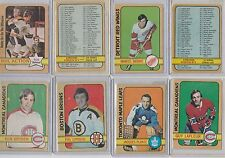 1972 73 OPC O Pee Chee Set Builder 239/340 4 Unmarked C/L 31 High #'s WHA Ex+