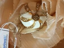 Russian Faberge gold plated egg pendant with 10k gold chain