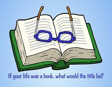 METAL FRIDGE MAGNET If Your Life Was A Book What Would Be The Title Sayings