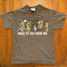 VINTAGE 90's Where The Wild Things Are T Shirt Youth Small Olive Color M&O Knits