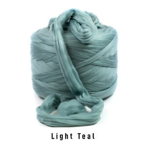 10kg Bale Light Teal Mammoth Giant Huge Chunky Extreme Arm Knitting Unspun Yarn