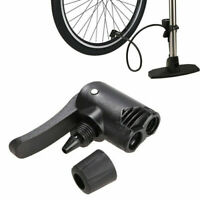 Bicycle Tyre Tire Air Pump Presta Schrader Valve Inflator Hose Nozzle Adapter