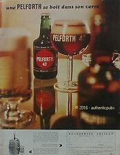 PUBLICITE PELFORTH 43 BIERE BRASSERIE PELICAN DE 1968 FRENCH AD BEER CERVEZA PUB