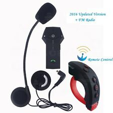 1000m Casco Da Moto Interphone Bluetooth Multi Interfono Telecomando + FM