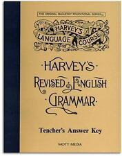 Harvey's Revised English Grammar Answer Key, Eric Wiggin, 0880621540, Book, Acce
