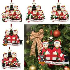 2020 Árbol de Navidad Ornamento Colgante Familia Adornos Papá Noel Decoración GB