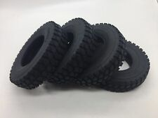 4Pcs Climbing Car Hard Rubber Tyres Tires For Tamiya 1:14 Tractor Trailer Truck