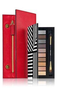 NIB Estée Lauder Pure Color Sculpting Eye Shadow Palette Brush Red Bag Gift Set