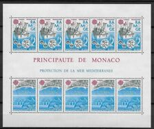 MONACO 1978 BLOC BLOCK 34 EUROPA nature mer cote 31€ ★★ neuf sans charnière