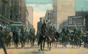 Artist impression Mounted Police Squad Parade #549 C-1910 Postcard 21-1838