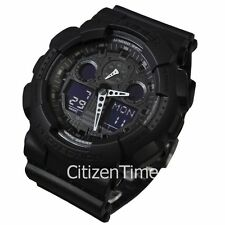 -NEW- Casio Big G-Shock Military Black Watch GA100-1A1