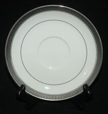 MIKASA FINE CHINA SAUCER ONLY PALATIAL PLATINUM PATTERN L3235