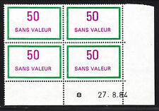 FRANCE TIMBRE FICTIF F237 ** MNH, coin daté 27.8.84, TB