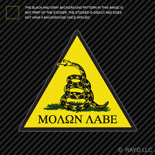 Molon Labe Dont Tread On Me Sticker Die Cut Decal Vinyl gun rights arms gadsden