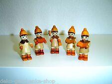 5 Niños Invierno CANTANTES para pirámides decoración de Navidad 5,5 cm 70276