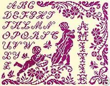 GRILLE POINT de CROIX - MÉLODIE D'AMITIÉ - réf : 8001