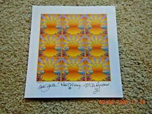 California Orange Sunshine Signed By 3 Members BEL Ltd Ed #ed 133 Blotter Art