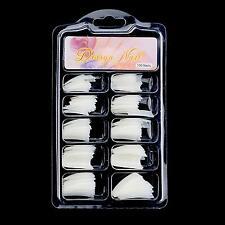 100PZ Colore Naturale Finte Acrilico Gel UV French Nail Art Mezze Tips Salon