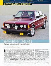 1977 BMW 320i Restore Car Review Report Print Article J831
