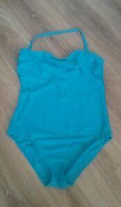 Resort Swimming Costume Size 22 Green Halterneck
