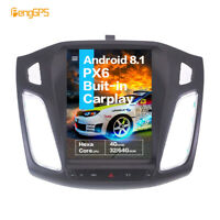 """10.4"""" Android 8.1 Tesla Style Car GPS Navi 32GB Radio for Ford Focus 2012-2018"""
