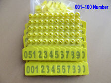 001--100 Number Animal cattle Use Ear Tag Livestock Tags labels cattle special