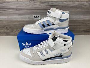 *RARE NEW Men's Adidas Forum Mid White Light Blue UNC   size 12   HO1679 Retro